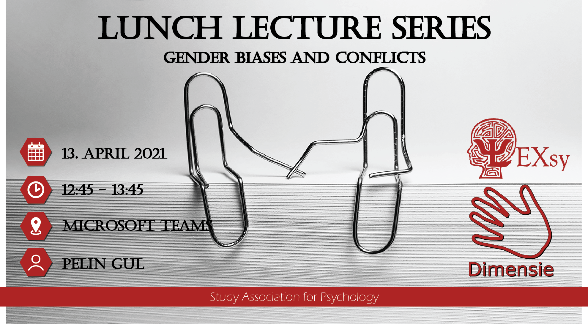 Lunch Lecture Series - Gender biases and conflicts