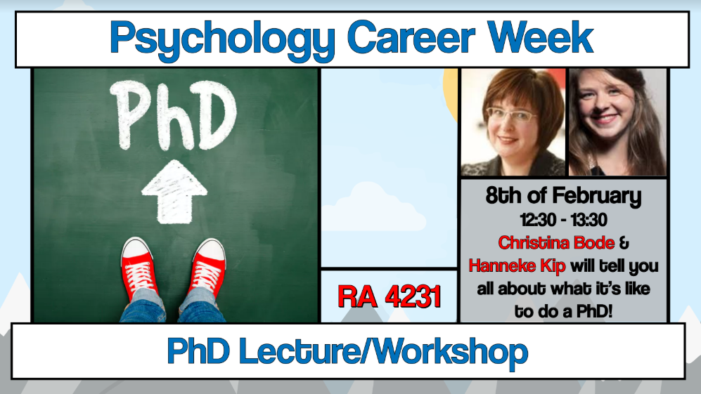 "Career Week: Lecture ""PhD Trajectory"""