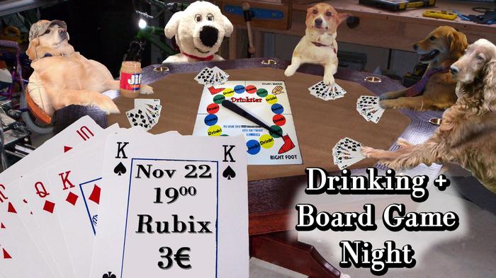 Drinking + Board game night