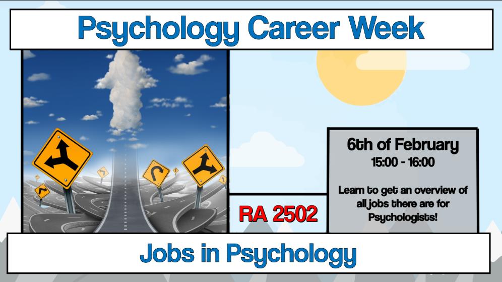 """Career Week: Workshop """"Jobs in Psychology"""""""