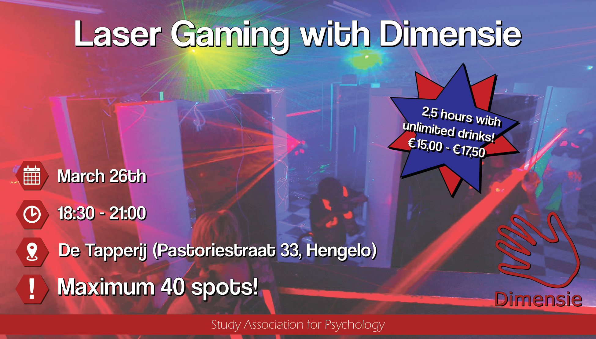 Laser Gaming with Dimensie [CANCELLED]