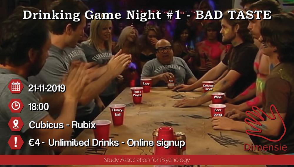 Drinking Game Night #1 - BAD TASTE