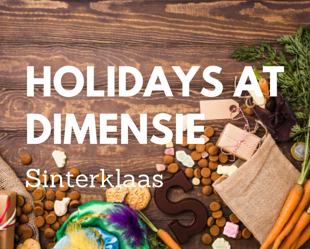 Holidays at Dimensie - Sinterklaas