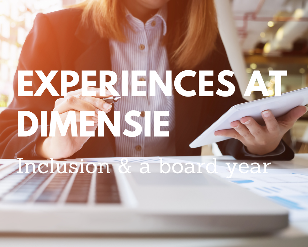 Experiences at Dimensie - Inclusion