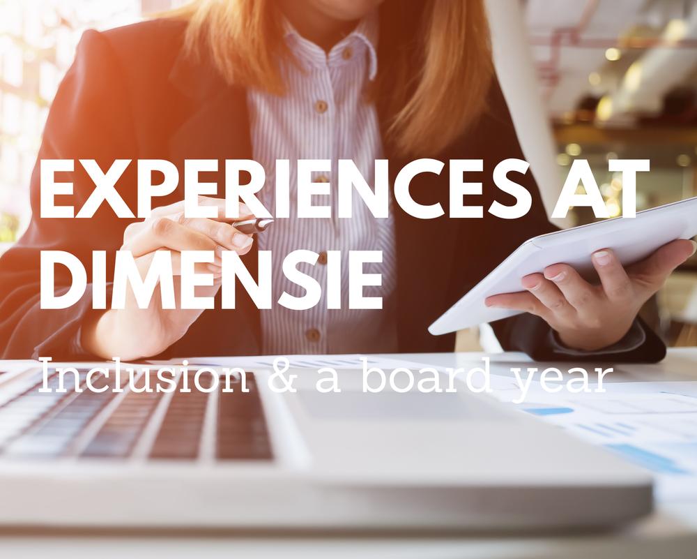 Experiences at Dimensie - Inclusion